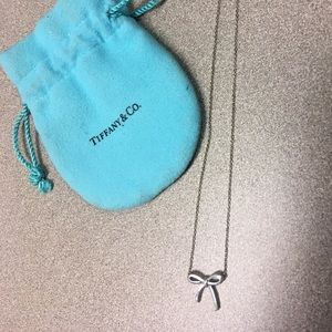 Silver Bow Necklace Tiffany & Co
